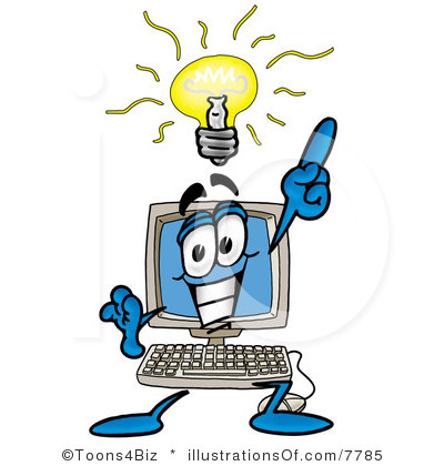 computer clip art free royalty free computer clipart illustration 7785