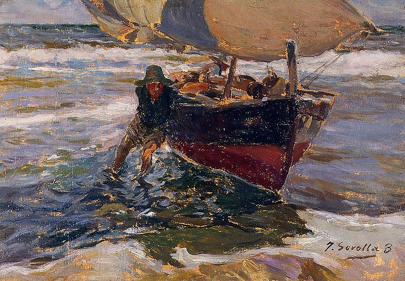 800px Joaquin Sorolla Beaching the Boat