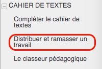 fiches cahier textes